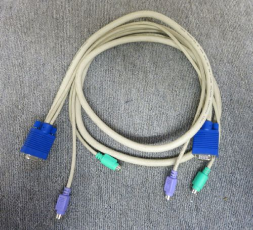 KVM Cablev10' VW-1 Low Voltage Computer Cable Style 2919 E87647-DG AWM 80c 30V